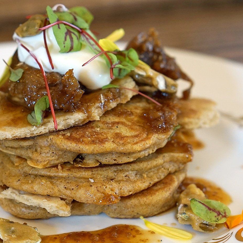 Sweet Potato Flapjacks, The Beverly on Locke
