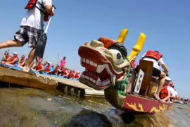 Lively Dragon Boating