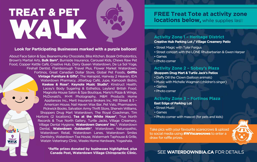 waterdown treat pet walk
