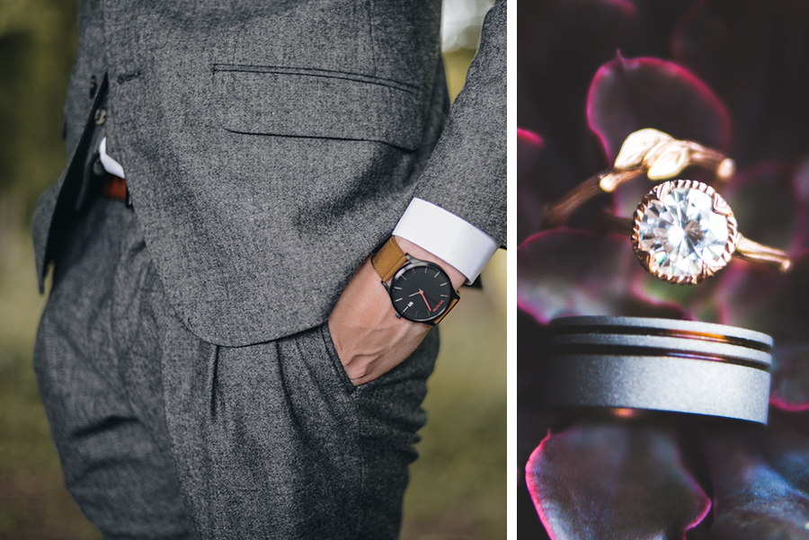 Groomsman attire and wedding bands