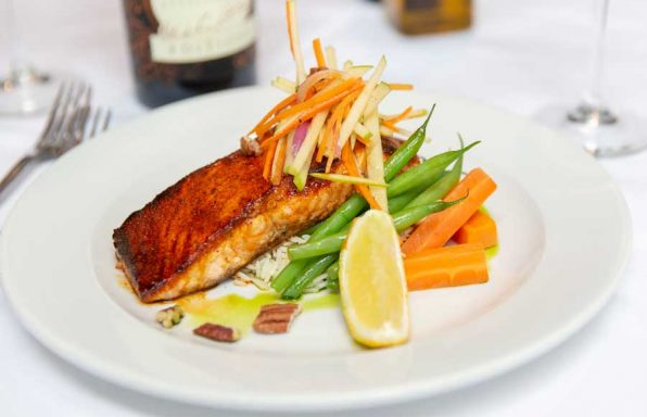 Maple Glazed Blackened Atlantic Salmon