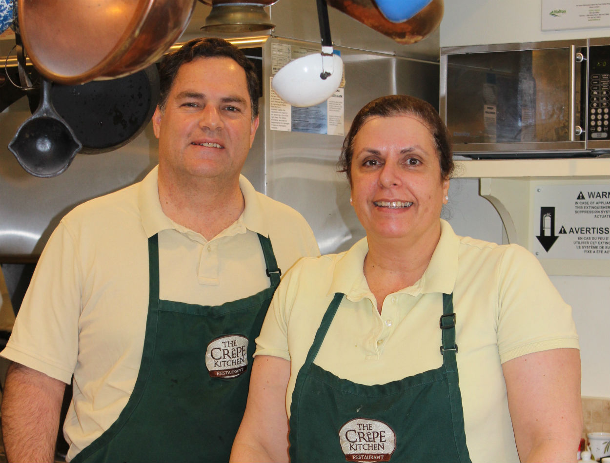 The Crepe Kitchen owners, Eduardo and Ana Siles