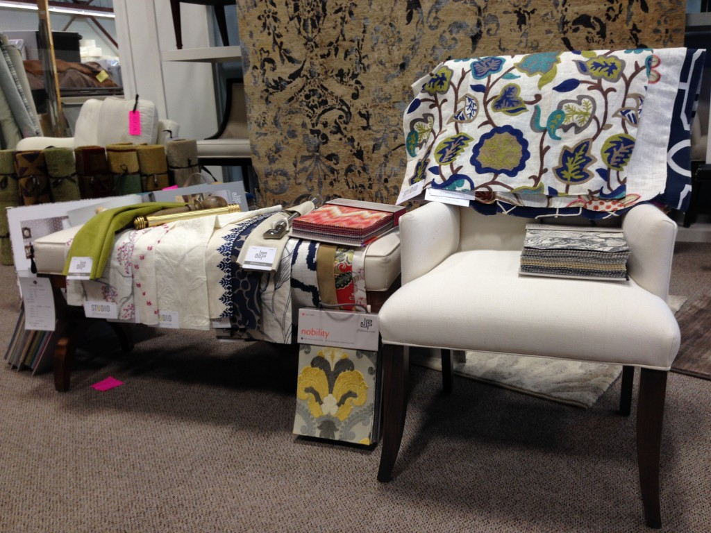 JF Fabrics showcased upcoming trends and sophisticated designs.