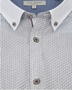 Ted Baker stripe dot printed long sleeve shirt