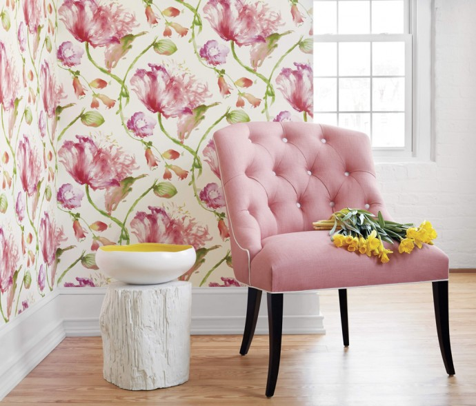 Be bold the latest interior decorating trends combine for Current wallpaper trends 2016