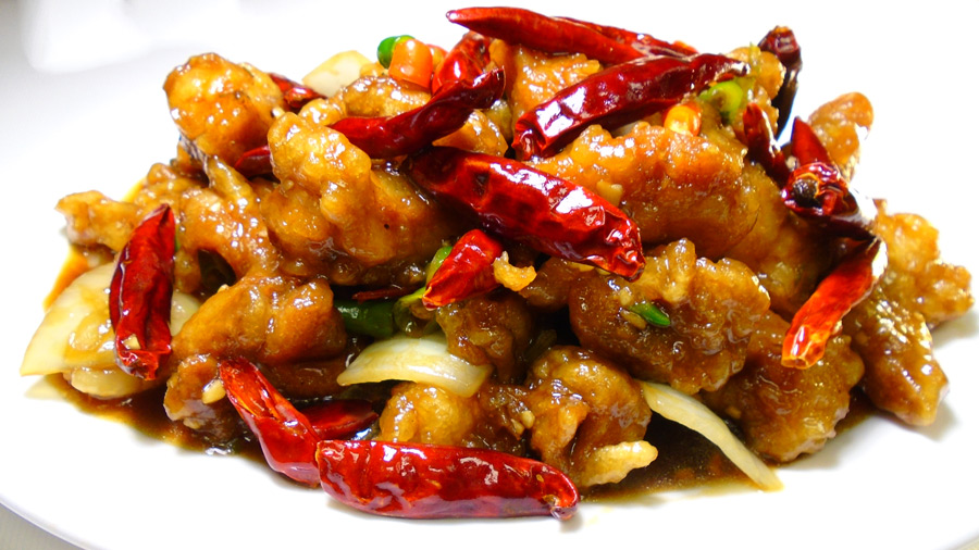asian fusion chilli chicken