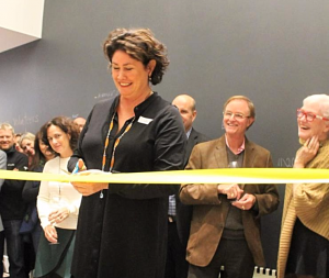 Jo Fallon, Founder cutting the ribbon on the new Lighthouse.