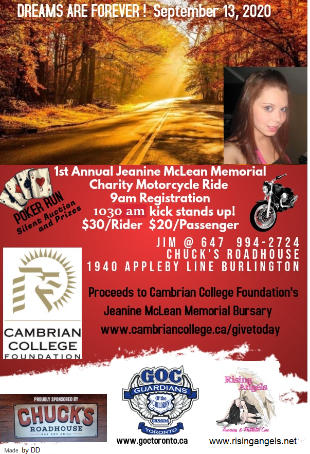 1st Annual Jeanine McLean Memorial Charity Motorcycle Ride